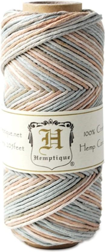 Hemp Variegated Cord Spool 20lb 205/'-pastel