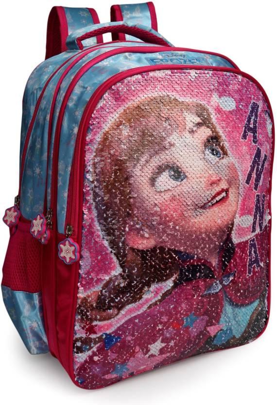 4983870dd57 Disney Frozen Anna   Elsa Pink Sequins 16    Backpack (Pink