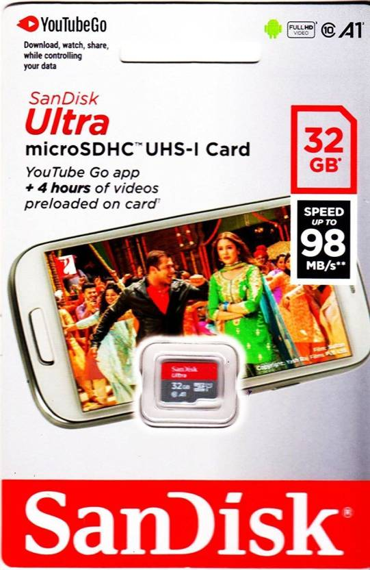 Sandisk A1 Youtube 32 Gb Microsd Card Class 10 98 Mb S Memory Card