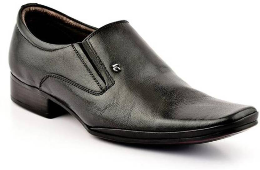 0050780e98c Lee Cooper Men Genuine Leather Slip On Shoes For Men - Buy BLACK P1 ...