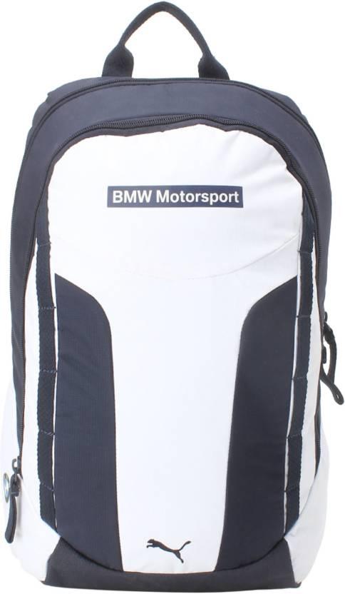 b768c3a7fa Puma BMW Motorsport 24 L Laptop Backpack White - Price in India ...