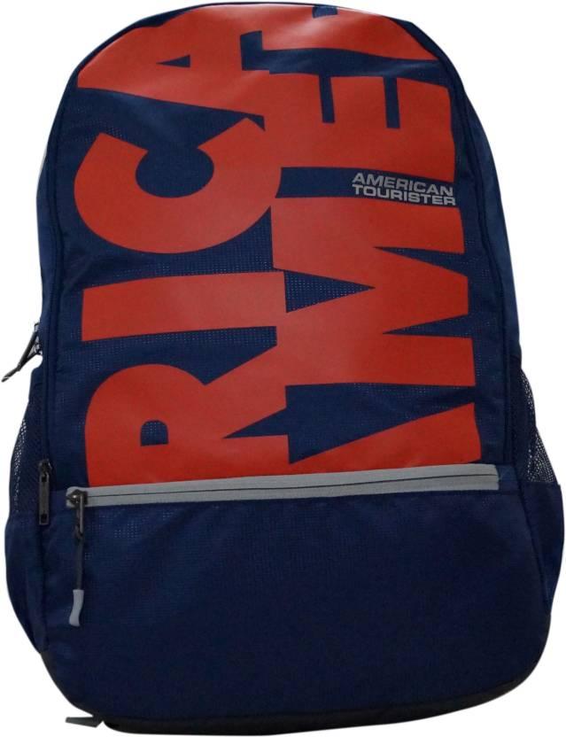 American Tourister POP PLUS 02 NAVY BLUE Waterproof Backpack (Blue 67d7b3a8b49b6