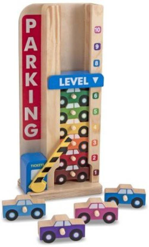 Melissa Doug 15182 Stack And Count Parking Garage Toy Price In