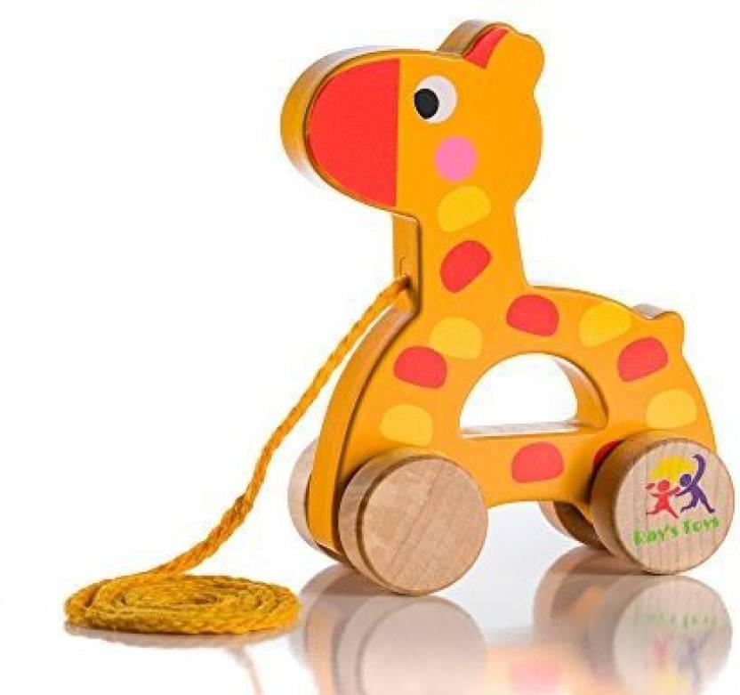 Ray S Toys Wooden Pull Along Giraffe Toy Beautiful Giraffe Pull