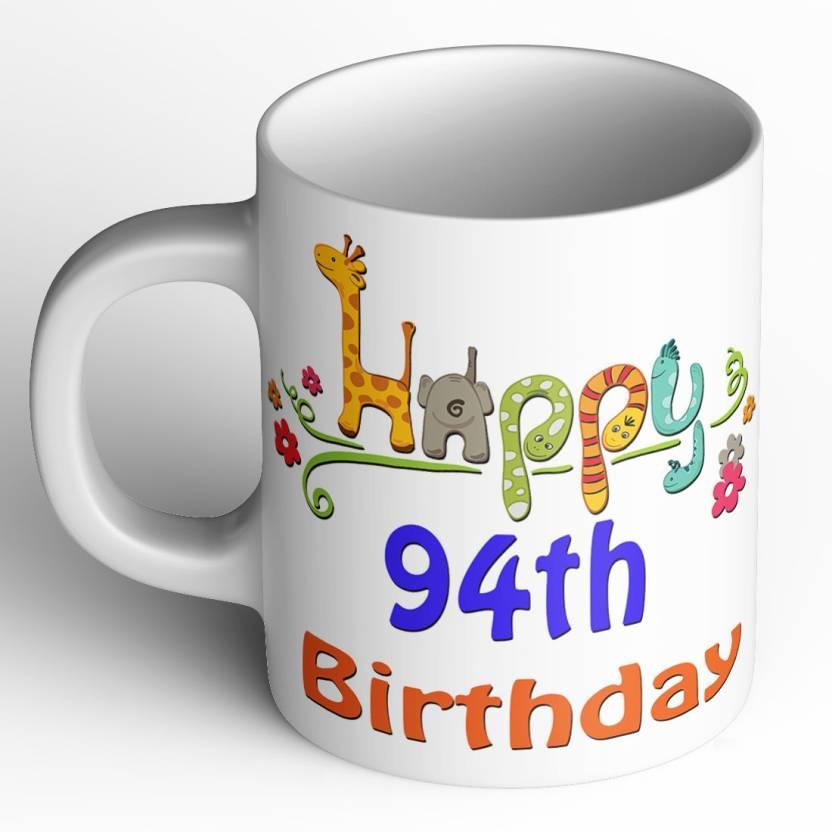 Abaronee Happy 94th Birthday 001 Ceramic Mug 350 Ml