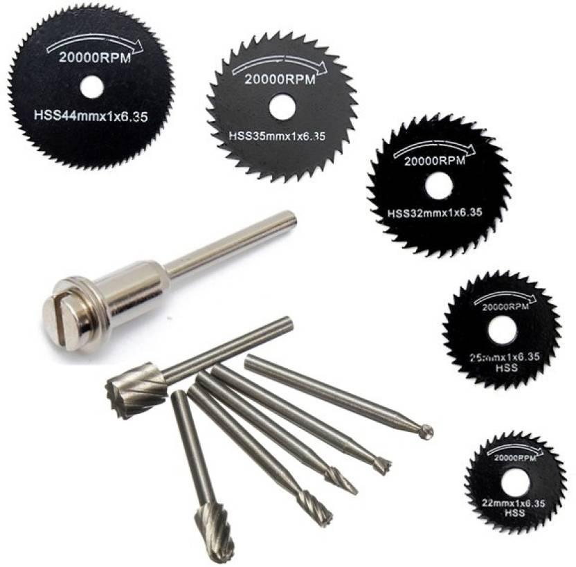 Digital Craft 6pc HSS Circular Saw Blade Set For Metal Rotary Tools