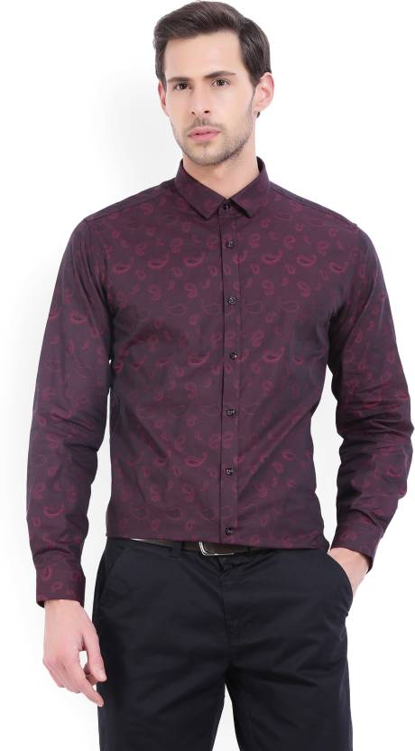 d3a75bc8f2f V Dot by Van Heusen Men s Self Design Party Spread Shirt - Buy Red V Dot by  Van Heusen Men s Self Design Party Spread Shirt Online at Best Prices in  India ...