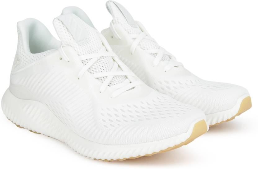 best service 9caa3 86e36 ADIDAS ALPHABOUNCE EM UNDYE W Running Shoes For Women (White)