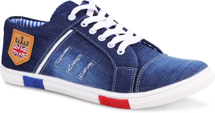 a2187ad1d71f Zovim Denim Canvas Shoes For Men