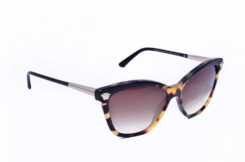 00bb2adb0e3 Buy Versace Cat-eye Sunglasses Brown For Women Online   Best Prices ...