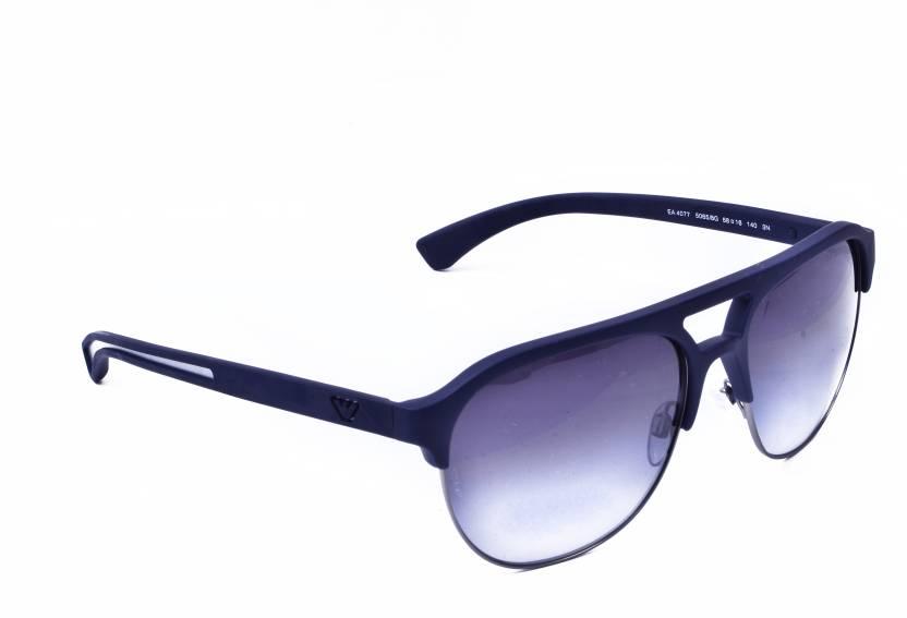 efce2acda3c7 Buy Emporio Armani Aviator Sunglasses Grey For Men   Women Online ...