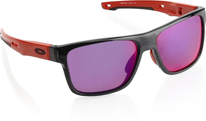 4b02c7e2af Buy Oakley CROSSRANGE Sports Sunglass Brown For Men Online   Best ...