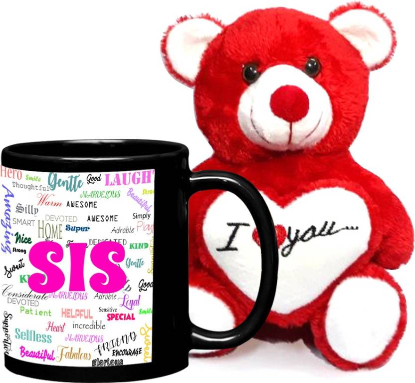 LOF Birthday Gift For SisGift SisterSister GiftSpecial Surprise Big SisSmall Sis Best Teddy And Mug Combo1 Set Price