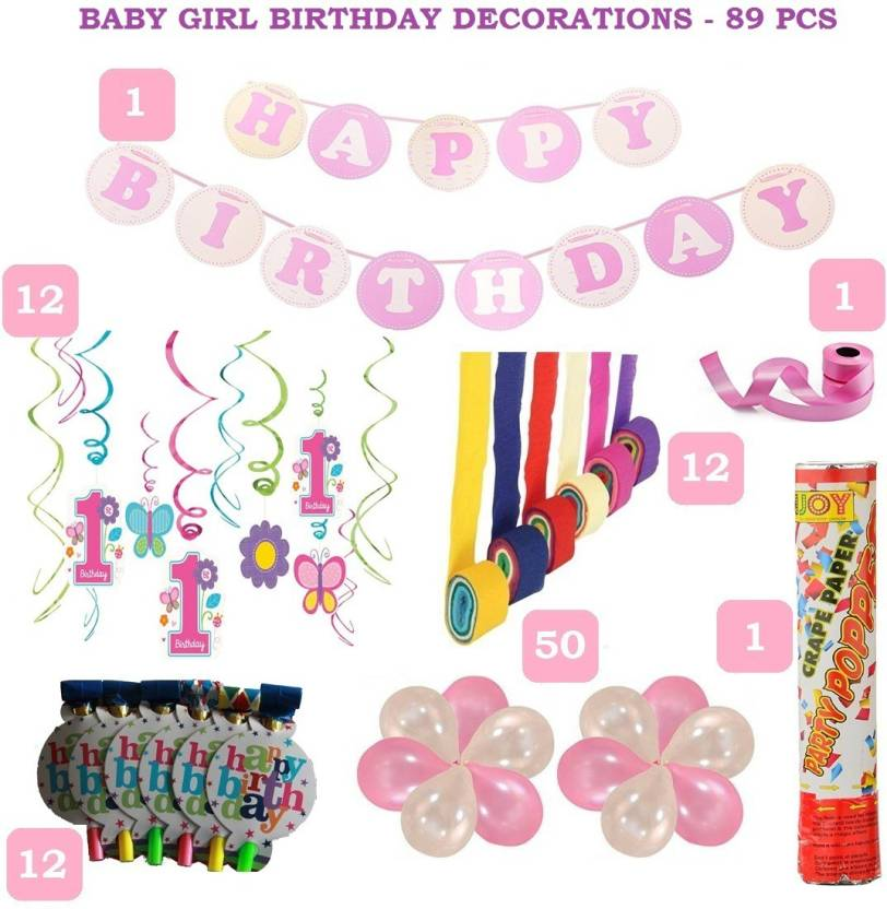 Factory 21 1st Birthday Baby Girl Decorations
