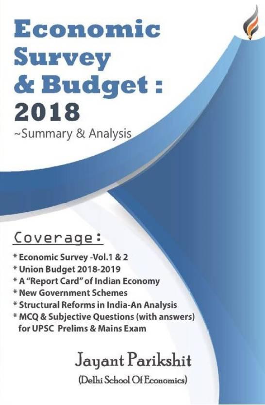 Economic Survey and Budget 2018: Buy Economic Survey and Budget 2018