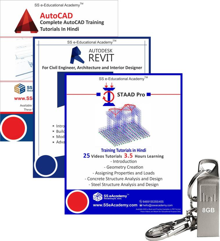 SS eAcademy Professional AutoCAD , Revit and Staad Pro