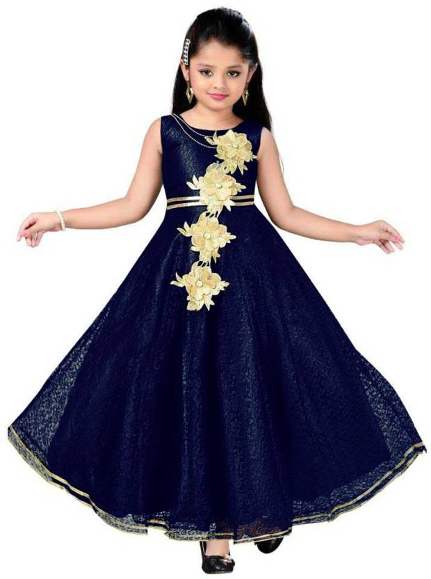 Satyamfab Girls Maxifull Length Party Dress Price In India Buy