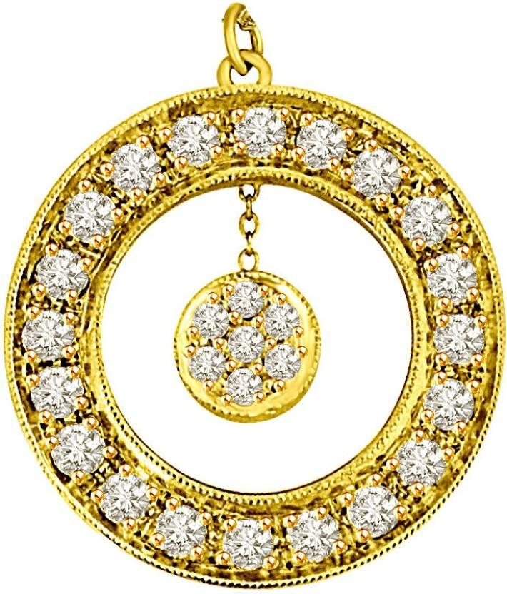 c690dd761ec9 Surat Diamond Golden World 18kt Diamond Yellow Gold Pendant Price in India  - Buy Surat Diamond Golden World 18kt Diamond Yellow Gold Pendant online at  ...