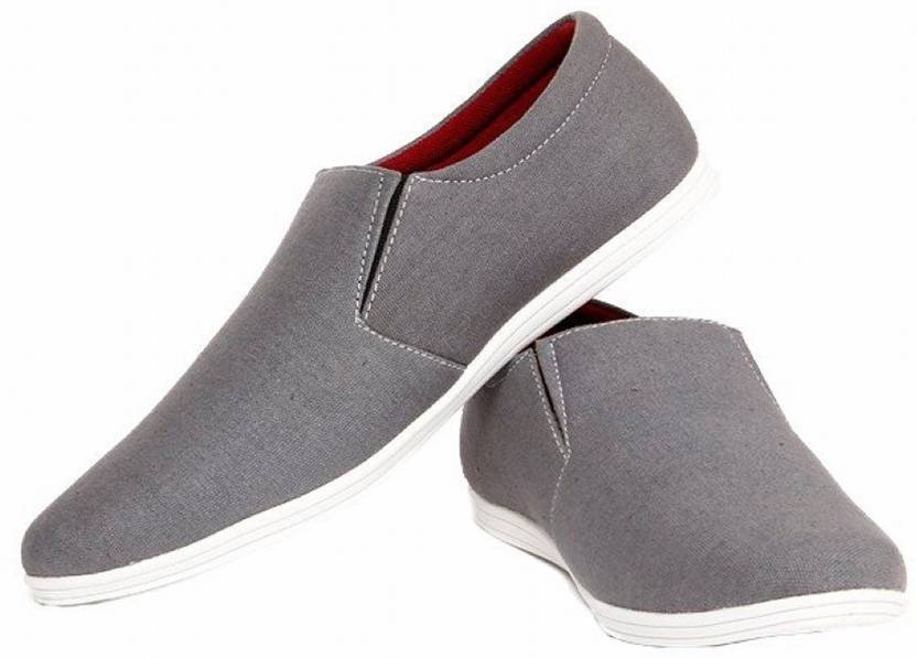 STEEMO Grey Slip On Loafers For Men's & Boy's Loafers For Men (Grey)