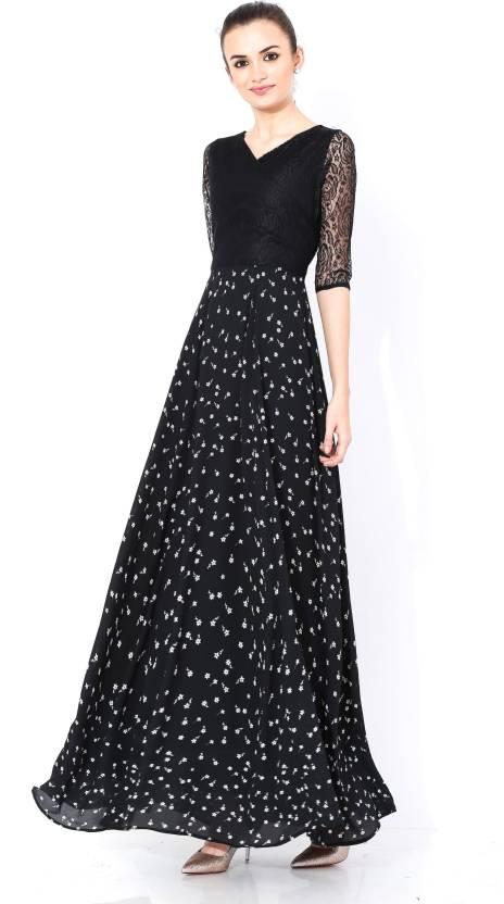9a3c962a3c shaper Women's Maxi Black Dress - Buy shaper Women's Maxi Black Dress Online  at Best Prices in India | Flipkart.com
