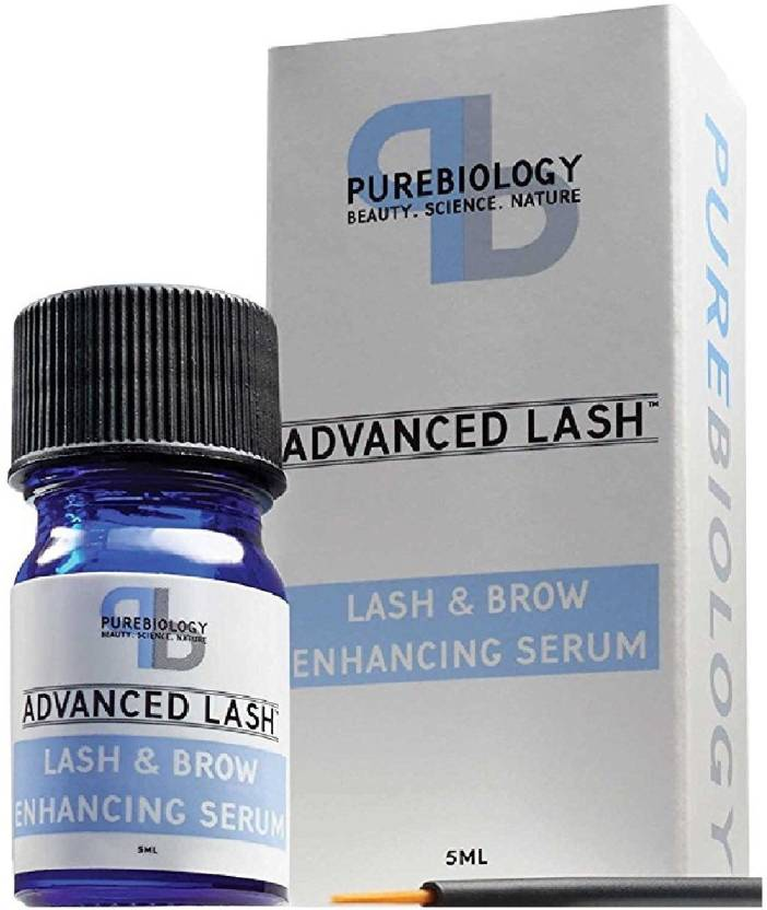 73dc247ddc2 Pure Biology Eyelash Growth Serum & Eyebrow Enhancer w/ Breakthrough Growth  Stimulating Complex 5 ml (Transparent)