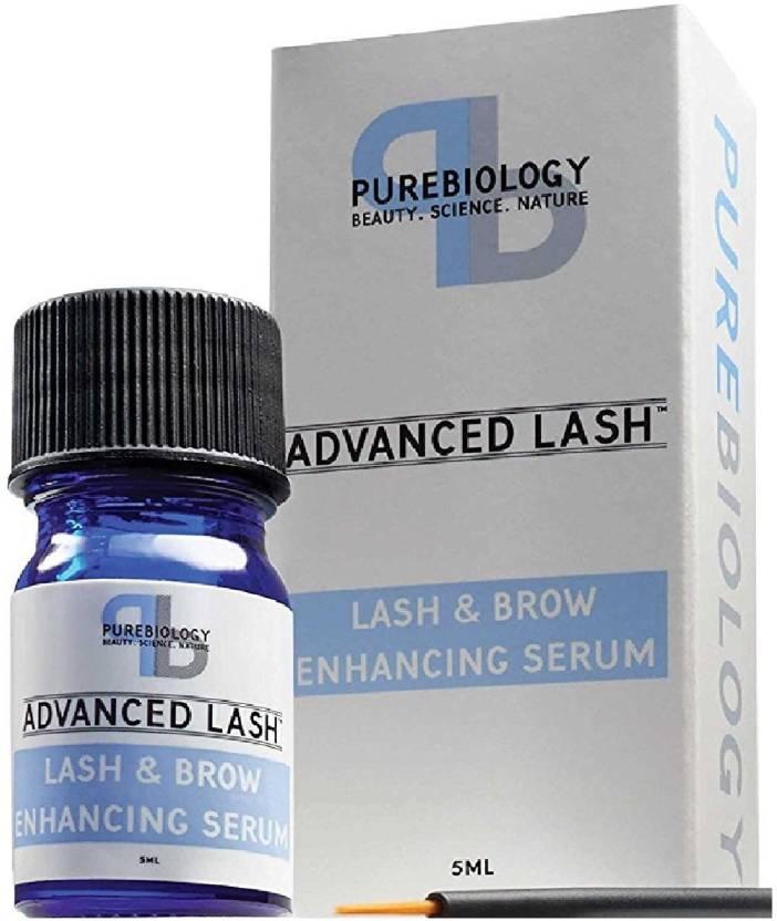 Pure Biology Eyelash Growth Serum Eyebrow Enhancer W Breakthrough Growth Stimulating Complex 5 Ml