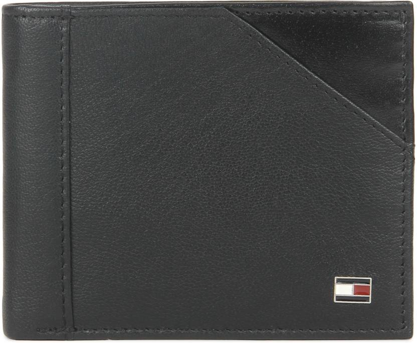70dbc306f2 Tommy Hilfiger Men Black Genuine Leather Wallet BLACK - Price in ...