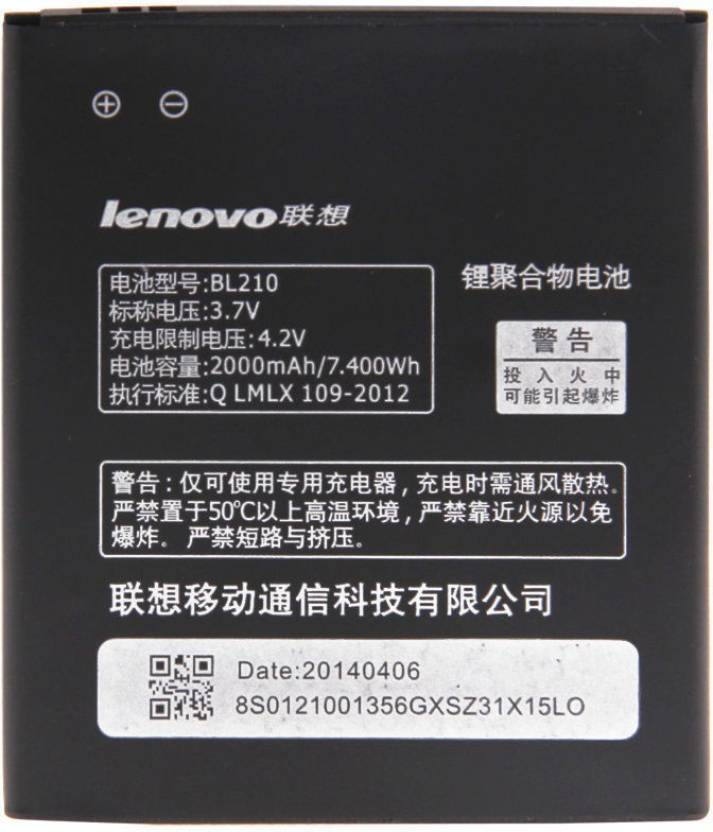 Lenovo Mobile Battery For BL-210 Battery for A536 A656 A658T A766 A750E A770 S820 S650 Mobiles Price in India - Buy Lenovo Mobile Battery For BL-210 Battery ...
