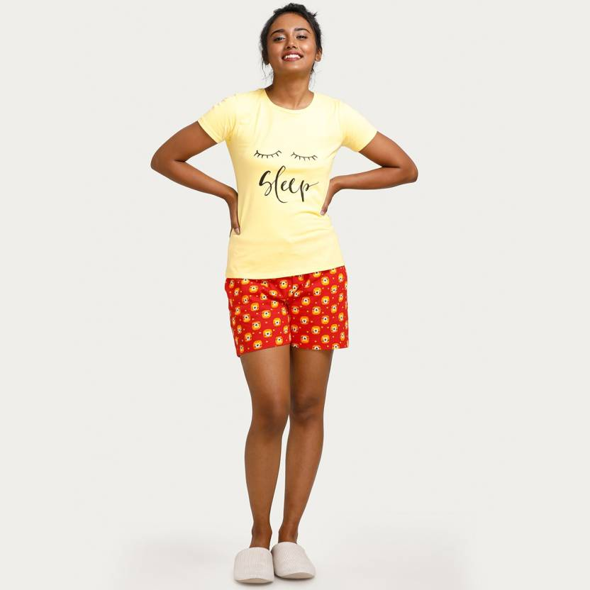Zivame Women s Printed Multicolor Top   Shorts Set Price in India - Buy  Zivame Women s Printed Multicolor Top   Shorts Set at Flipkart.com Top    Shorts Set 4253dc008
