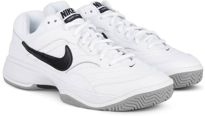 Nike COURT LITE Tennis Shoes For Men - Buy WHITE BLACK-MEDIUM GREY ... abebfd89f1e