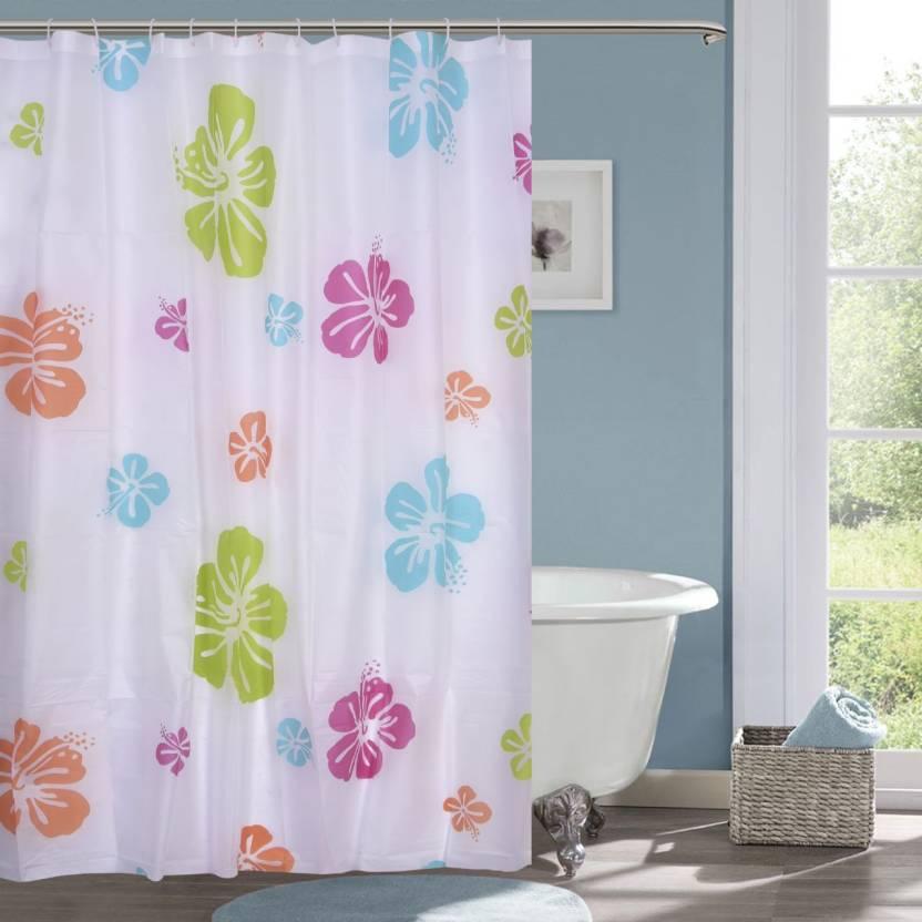 Bansal G 213 Cm 7 Ft PVC Shower Curtain Single