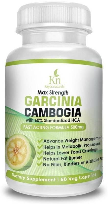 Kayosnaturals Pure Garcinia Cambogia Extract 60 Hca Weight Loss Supplement Fat Burner 500mg
