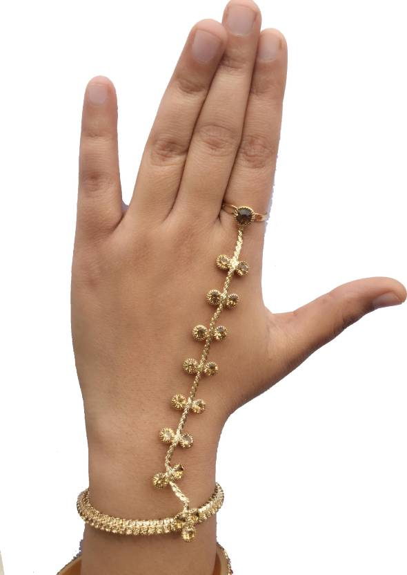 6673045e7e Ziory Alloy Gold-plated Ring Bracelet Price in India - Buy Ziory Alloy  Gold-plated Ring Bracelet Online at Best Prices in India | Flipkart.com