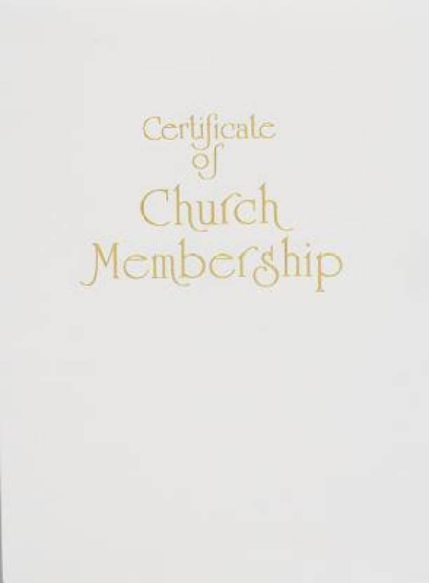 Contemporary Steel Engraved Church Membership Certificate Buy