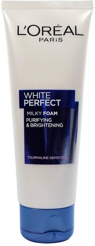 L'Oreal Paris Paris White Perfect Purifying & Brightening Milky Foam, Tourmaline Gemstone Face