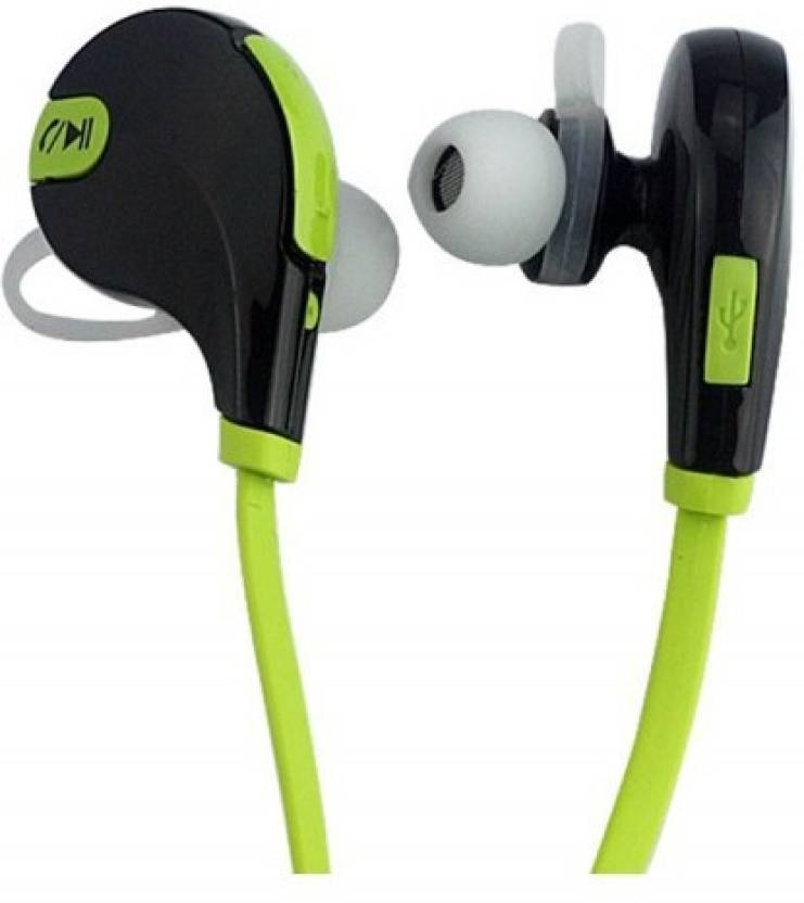 4a908d6739c MOBILZA Bluetooth headset jogger wireless sports headphones Bluetooth  Headset with Mic (Green, In the Ear)