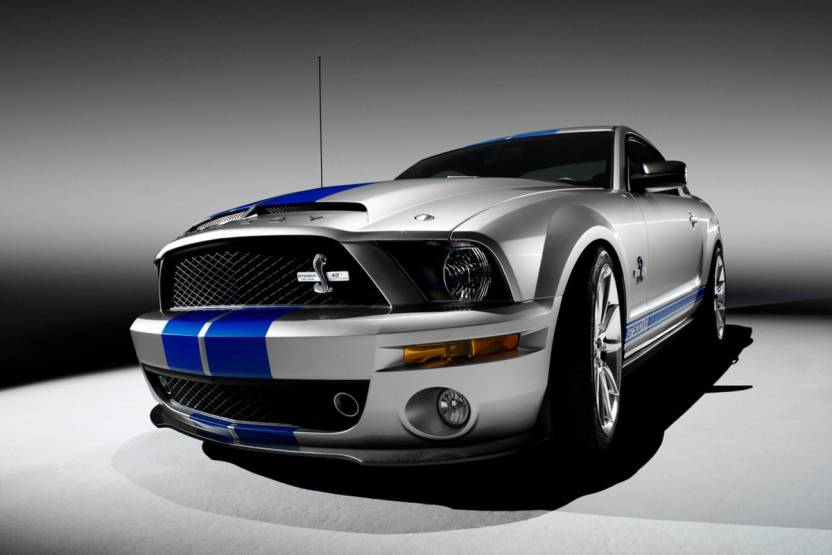 Shelby Mustang Gt 500 Car Vinyl Poster Paper Print Vehicles