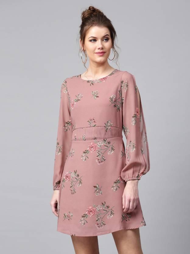 Sassafras Women Skater Brown Dress - Buy Sassafras Women Skater Brown Dress  Online at Best Prices in India  d01ce7a9f