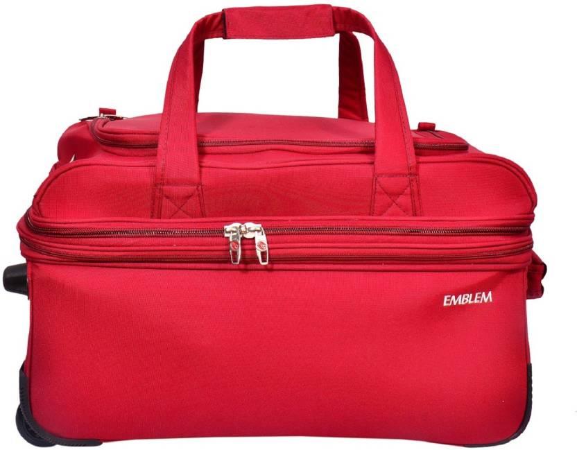 emblem 20 inch 50 cm (Expandable) DUFFEL BAG 20INCH RED Duffel Strolley Bag  (Red) b87589d897f0b