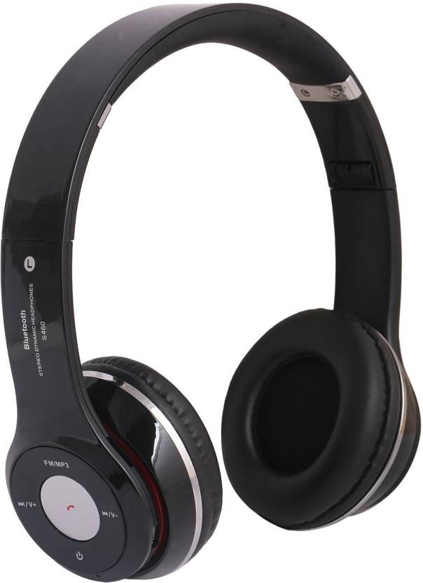 19ed0afcf20 DRUMSTONE S460 Bluetooth Wired & Wireless Headphones With Tf Card/Mic/Fm Support  Bluetooth Headset with Mic (Black, Over the Ear)