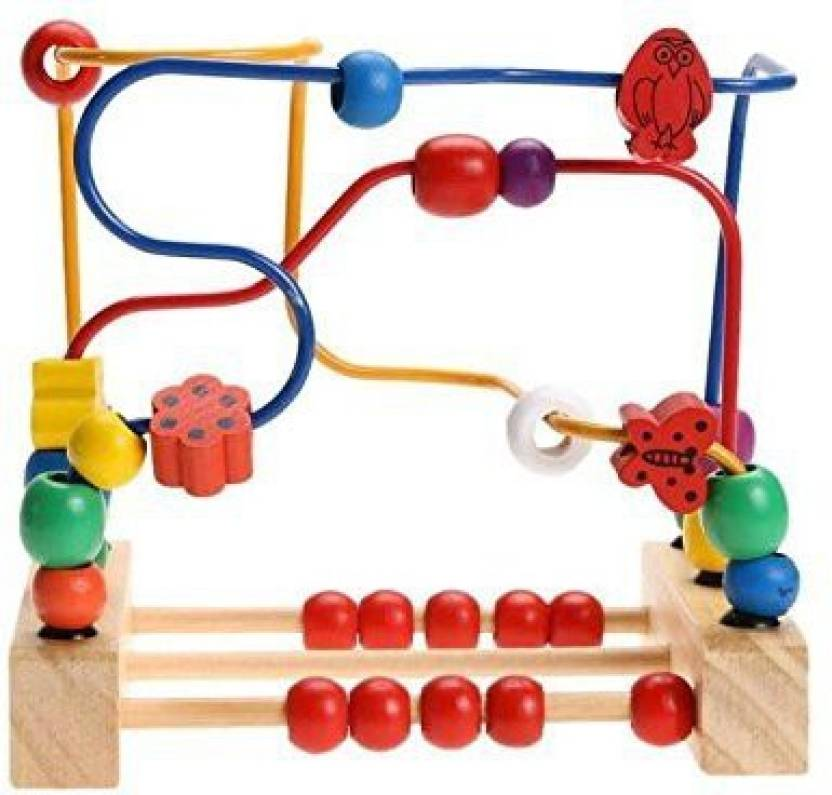 Generic Gberry Wooden Beads 30 Pieces Maze Maze Puzzle Game