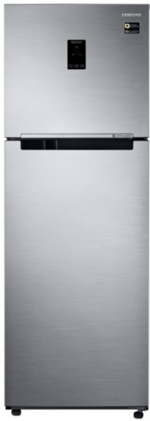 Samsung 345 L Frost Free Double Door Top Mount 3 Star Convertible Refrigerator (Elegant Inox, RT37M5538S8/HL)