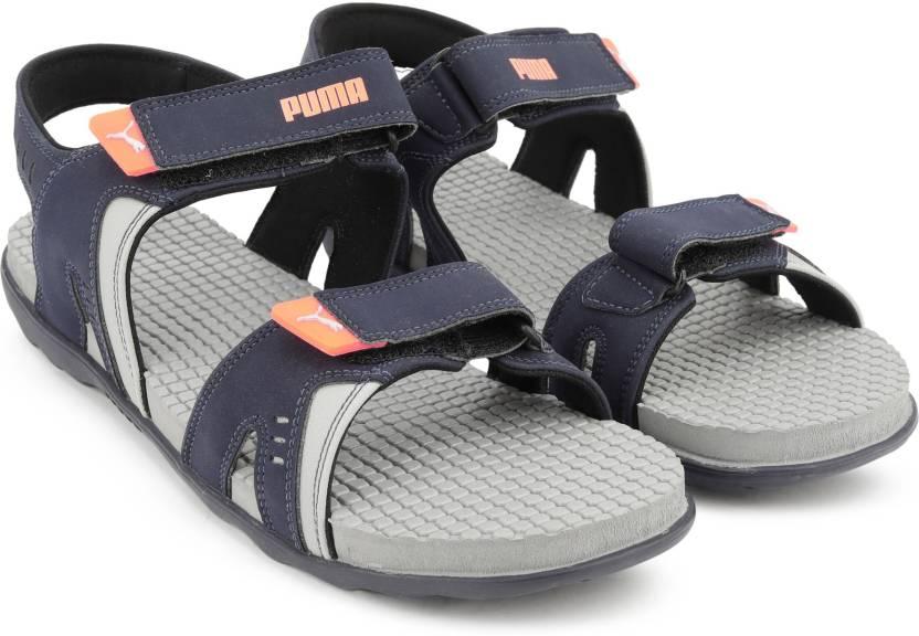 Puma Men Peacoat-Glacial Blue-Shocking Orange Sports Sandals - Buy  Peacoat-Glacial Blue-Shocking Orange Color Puma Men Peacoat-Glacial Blue-Shocking  Orange ... ecba3cfc1