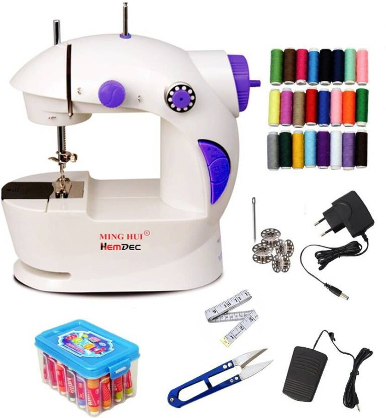 Hemdec JH40 With Thread Box Mini Electric Sewing Machine Price In Unique Sewing Machine Threads Online India