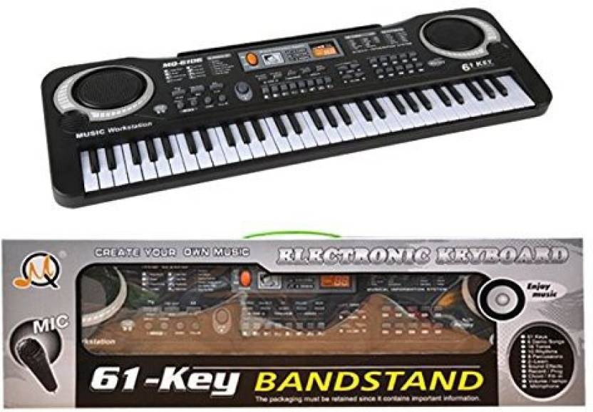 75162158a15 Yinarts 61 Key Portable Electronic Organ Music Keyboards Piano Educational  Toy For Kids Boy Girls Beginner Bundle W  Adaptor Microphone (Multicolor)