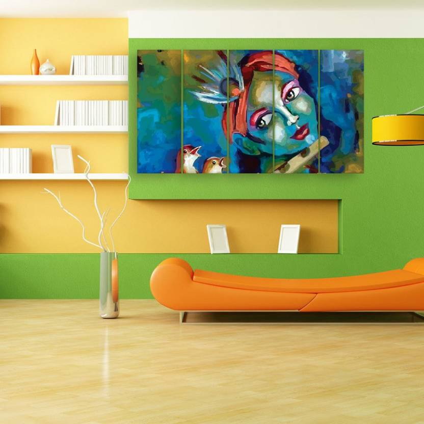 Inephos Multiple Frames Beautiful Krishna Art Wall Painting Digital ...
