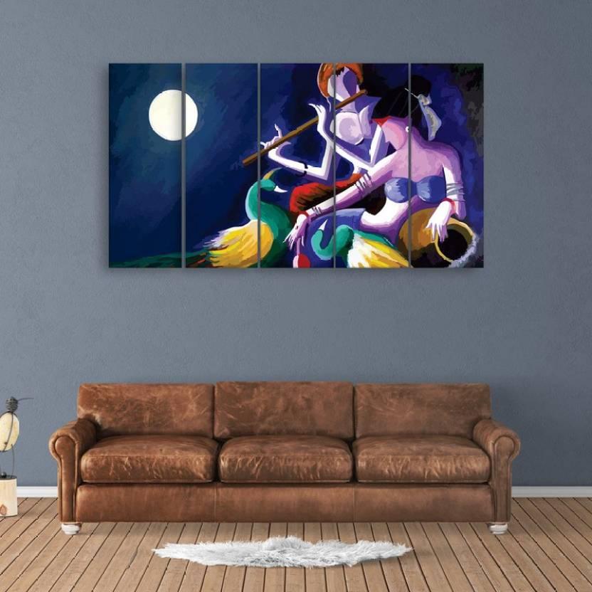 Inephos Multiple Frames Beautiful Radha Krishna Wall Painting