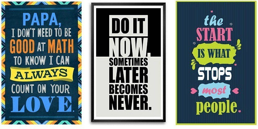 ANY 5 A3 SIZE POSTERS FROM OUR STORE  inspirational motivational gym music print