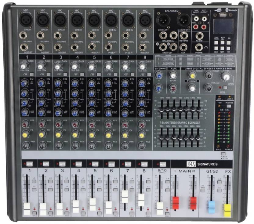 Mx Bx16 Usb Live Audio Mixer With Built In Usb And Bluetooth Powered