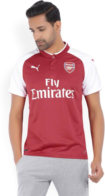 lowest price 24b94 74588 Puma Arsenal Printed Men's Polo Neck Red, White T-Shirt